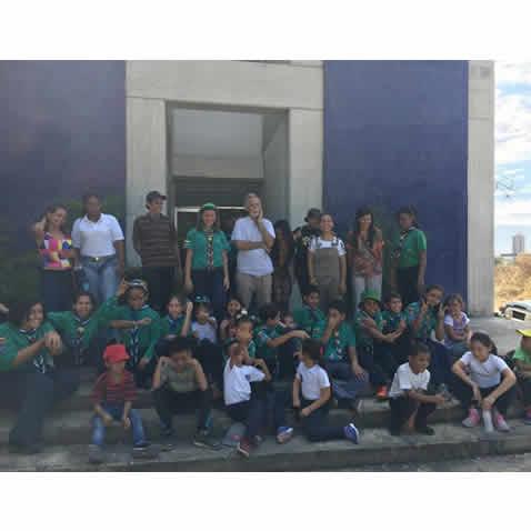 Visita de los grupos Scouts Ciudad Jardin y Libertador