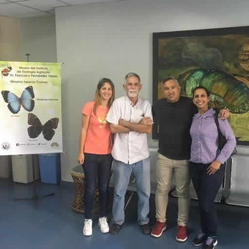 Visita de los investigadores Yurasi Briceño, Luz Carrillo y Leonardo Sanchez