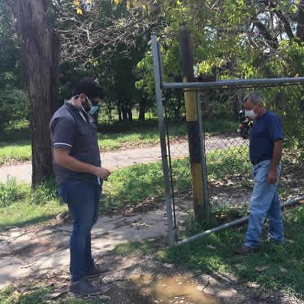 Visita de los amigos Dario Ciccola y Alberto Velazco